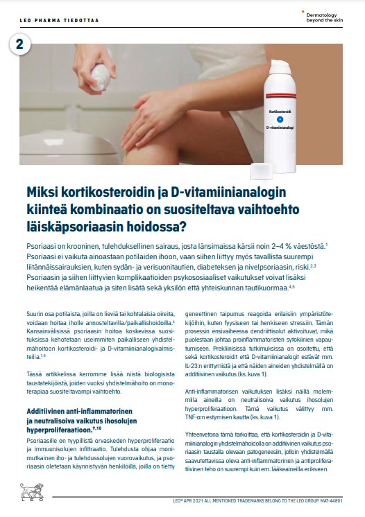 Close-up of Protopic® patient instruction in Finnish